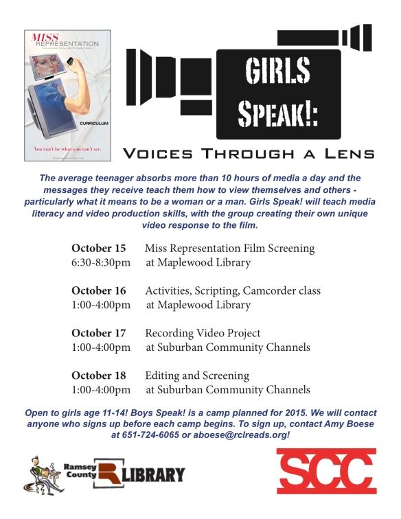 GirlsSpeak!Poster2014